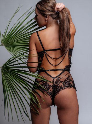 Bustier Style Cassandra Lace Romper Bodysuit
