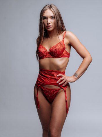 Sabrina 3 piece garter belt set