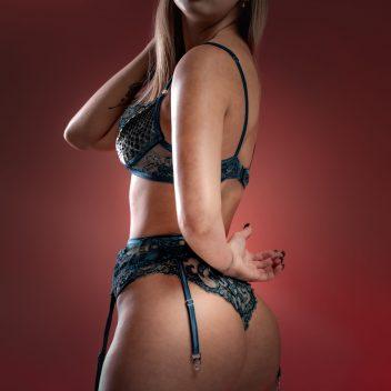 Limited Edition Blue Python skin decadent bra, panties and garter belt set